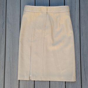 J. Crew Wool Houndstooth Lined Skirt Women's 12